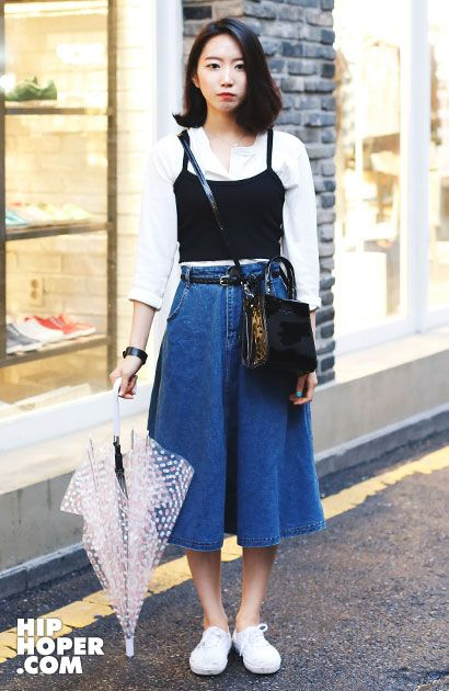 9月韩国街拍 夏末秋至看首尔街头时尚